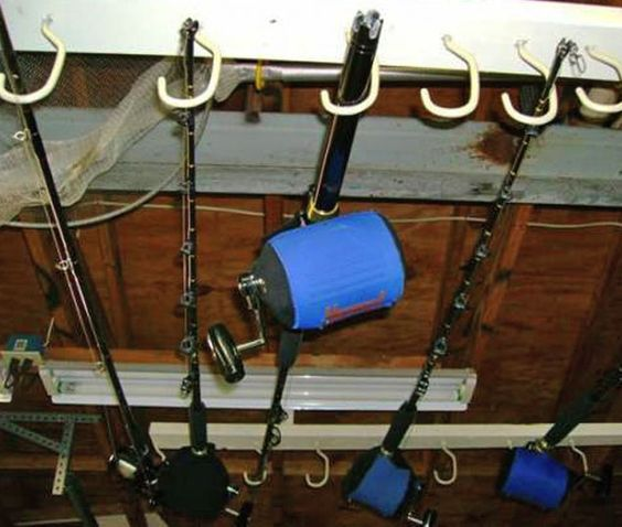 here's an easy tip to help you build an overhead rod holder to, Fishing Reels