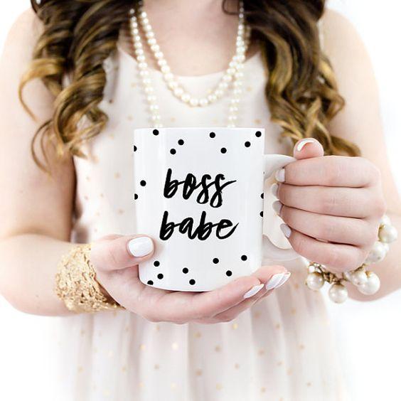 Boss Babe Coffee Mug Girl Boss Mug Lady Boss  by shopBlushPaperCo