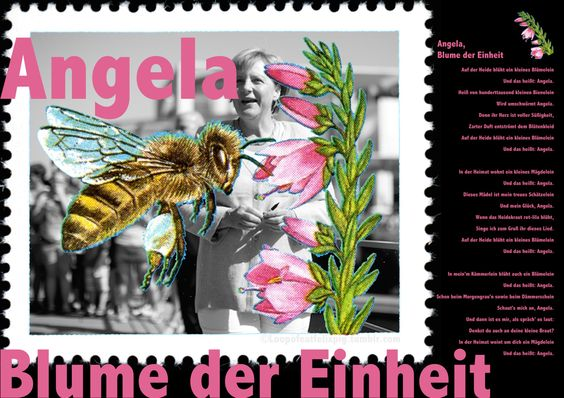Angela, Blume der Einheit - In der Heide blüht ein kleines Blümelein, und das heißt: Angela!