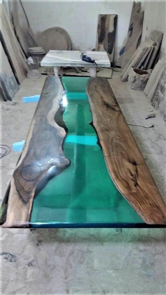 mesa resinada epoxi
