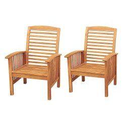 Acacia wood chairs