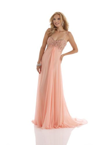 Light Pink Dress with Beaded Bodice