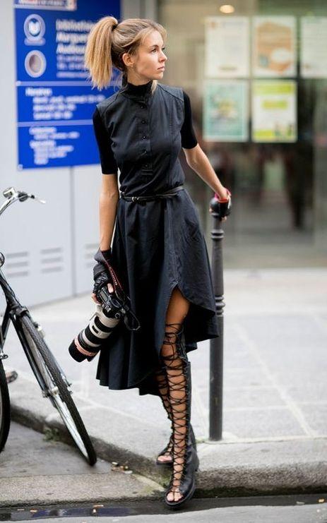9 combinações nada óbvias com vestido preto - Moda que Rima