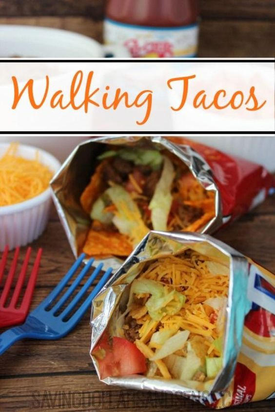 Walking Tacos are the perfect for #Birthday or Backyard #Barbecue #Recipe if only u could find a healthier chip