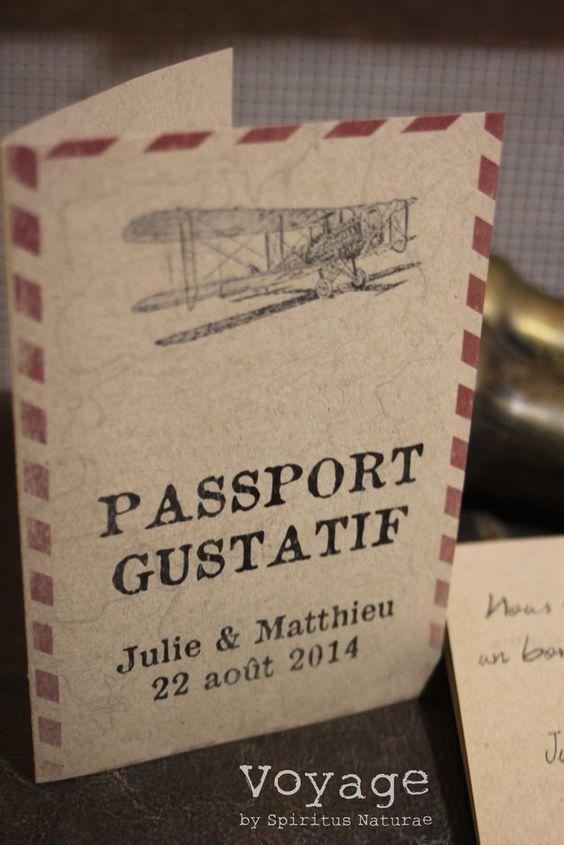 Image of MENU - PASSPORT GUSTATIF -