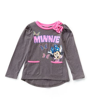 Charcoal & Pink Heather 'Minnie' Fashion Top