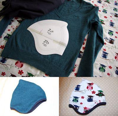 Kindermützchen aus altem Pullover