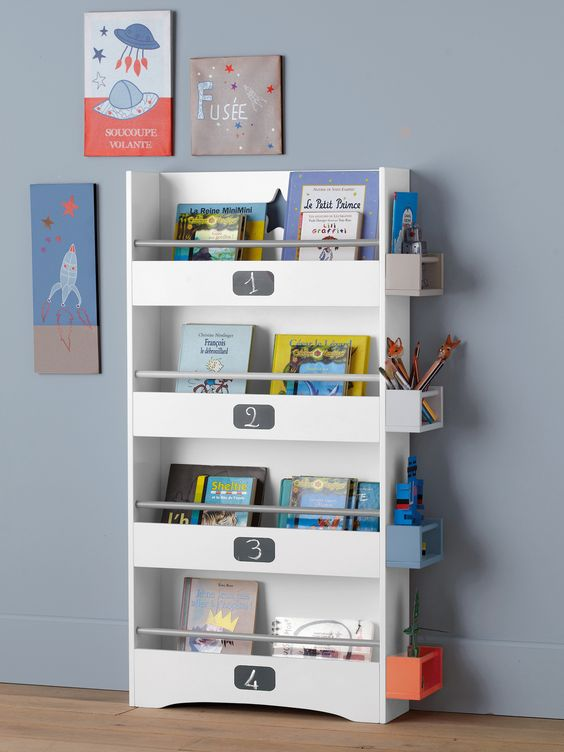Etag re biblioth que chambre enfants collection printemps t 2014 deco for Etagere enfant deco