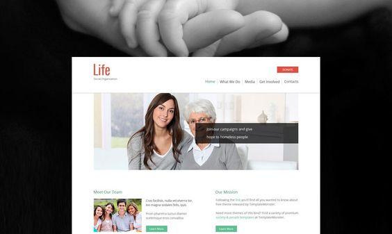 Gratis HTML5 Theme für eine Sozialorganisation http://www.templatemonsterblog.de/gratis-html5-theme-fuer-sozialorganisation/