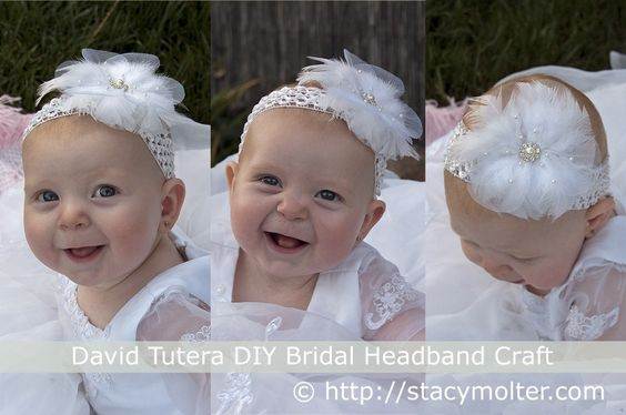 David Tutera DIY Bridal Headband Craft - so cute and totally re-usable later for another holiday or dress up occaision