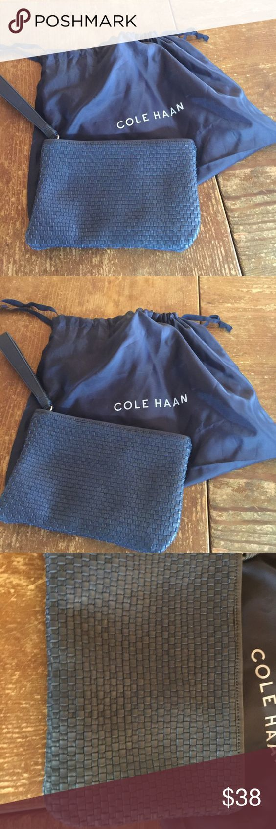 Cole Haan purse Beautiful blue Cole Haan purse - never used NWOT perfect for the movie night when you don't want a big purse! Cole Haan Bags Mini Bags