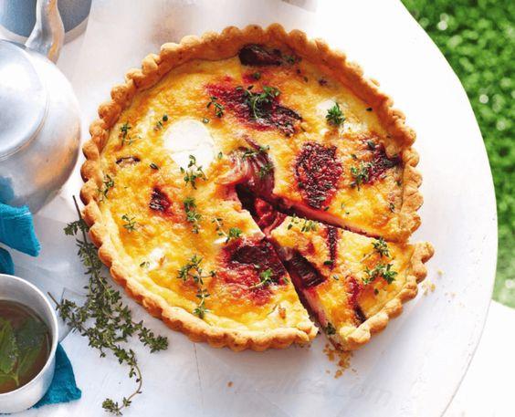 Recette de Betterave à la mozzarella, Recette de Quiche betterave et mozzarella.