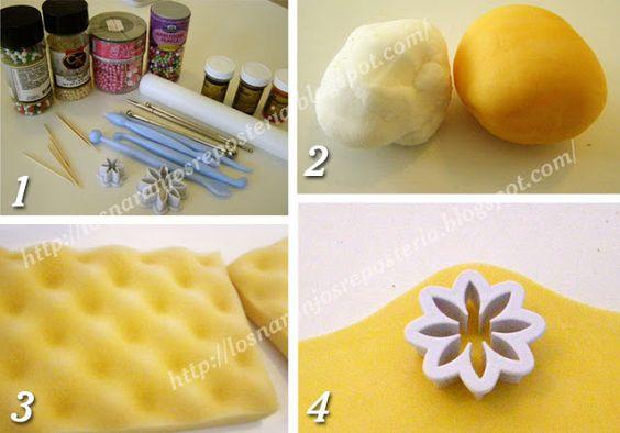 Los Naranjos - Arte en Repostería: Tutorial de Flores de Fondant - nueve flores diferentes, un solo cortador