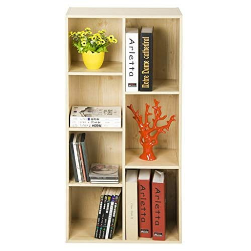 Yc Electronics Bookshelf Wooden 7 Grid Bookcase File Organiser And Floor Standing Bookshelf Rack Tv Stand Display S Bookcase Display Storage Standing Bookshelf