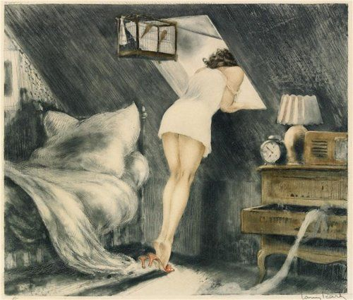Attic Room by Louis Icart, 1940