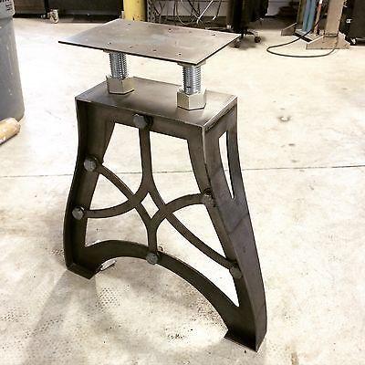 Picture 3 Of 5 Metal Table Legs Vintage Industrial Furniture Metal Table