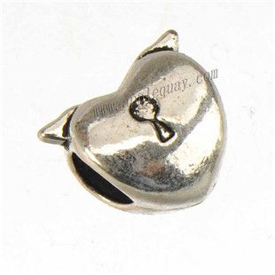 Zinc Alloy Heart Love Large Hole Beads,Plated,Cadmium And Lead Free,Various Color For Choice,Approx 11.5*10*8mm,Hole:Approx 4.5mm,Sold By Bags,No 010277
