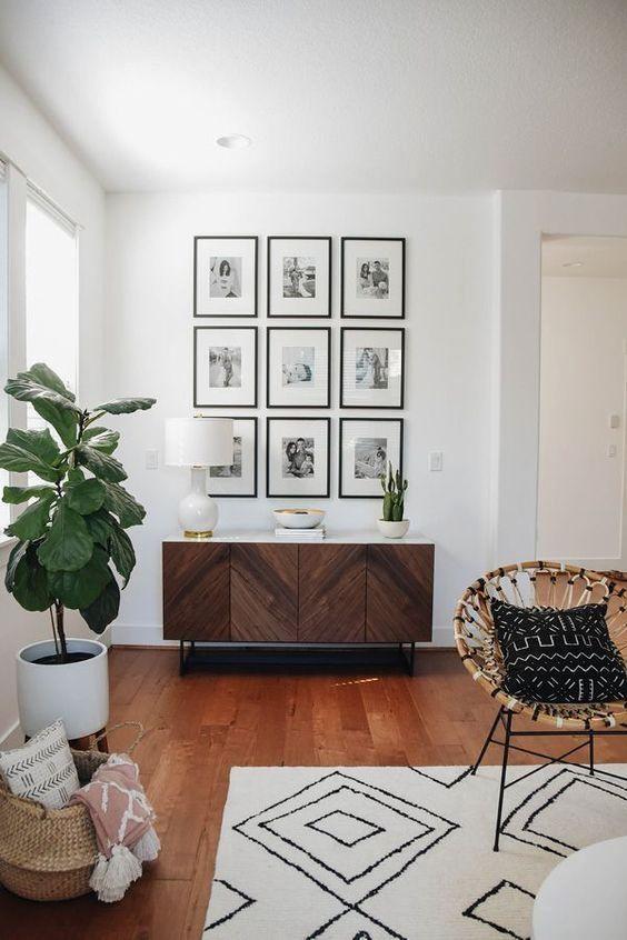 Pin On Gallery Walls Interior Design #retro #style #living #room