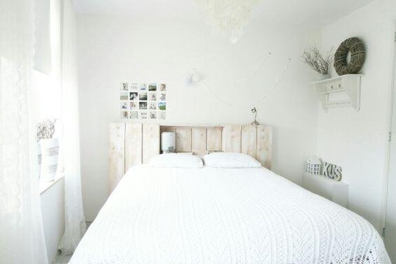 Witte Slaapkamer Met Hout : Mijn fijne witte slaapkamer met houten ...
