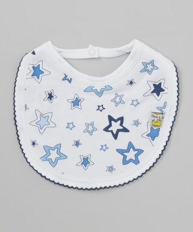 Another great find on #zulily! White & Blue Star Bib by Noa Lily #zulilyfinds