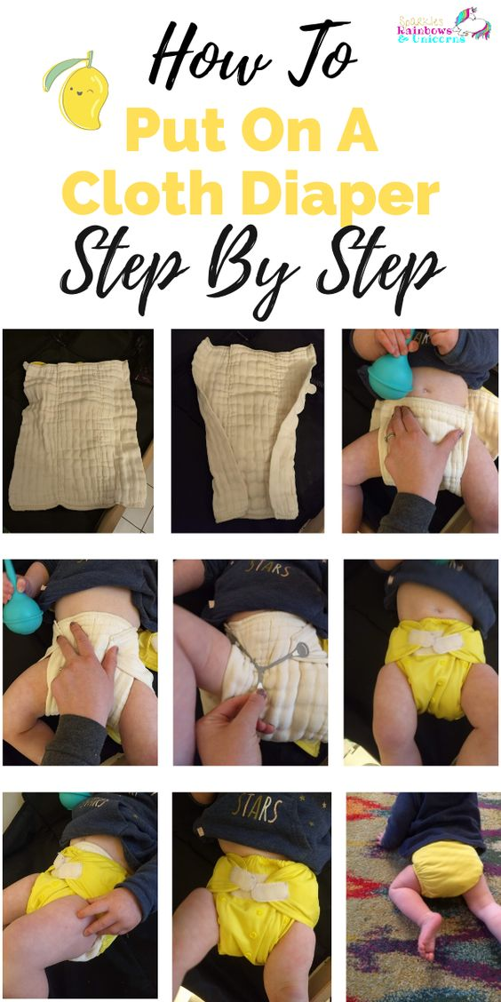 This is a super simple. Step by step guide with pictures for putting a cloth diaper on your baby. You got this mama!