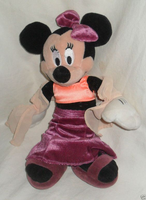 Disney Parks California Adventure Minnie Mouse Plush Doll