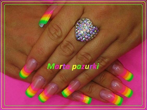 Neon rainbow nails | Nail inspiration | Pinterest | Neon, Rainbows ...