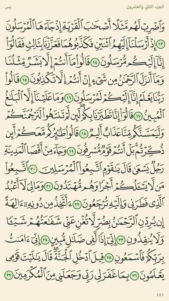 ١٣ : ٢٧- يس
