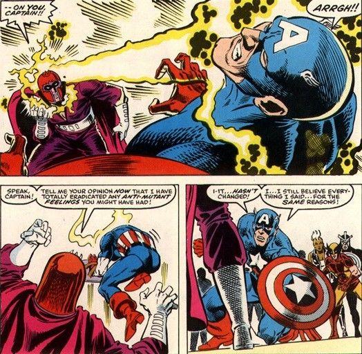 Magneto Vs Captain America The X Men Vs The Avengers Vol 1 1 4 Avengers Avengers 1 Man Vs