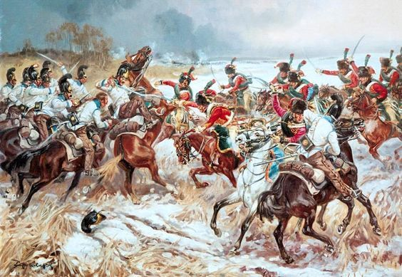 Austrian And French Cavalry Military Art War Art Napoleonic Wars