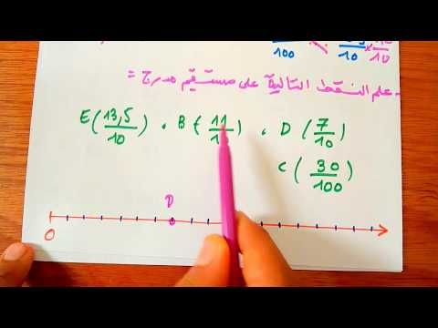تعليم على نصف مستقيم مدرج رياضيات اولى متوسط 1am الجيل الثاني Youtube Math Arabic Calligraphy