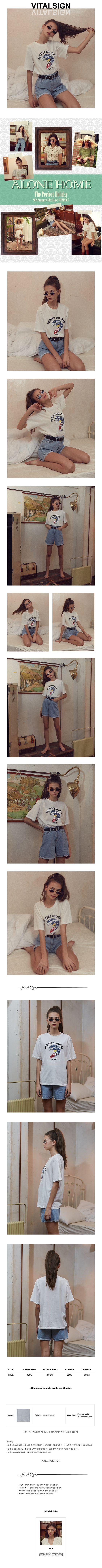 바이탈싸인(VITALSIGN) Vintage Surfing T-shirt (White)