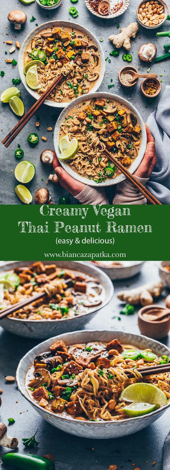 Vegan Thai Peanut Ramen