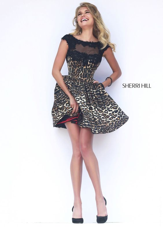 f1d23e1edb Sherri Hill 32111 Leopard Print Cocktail Dress - Sherri Hill .