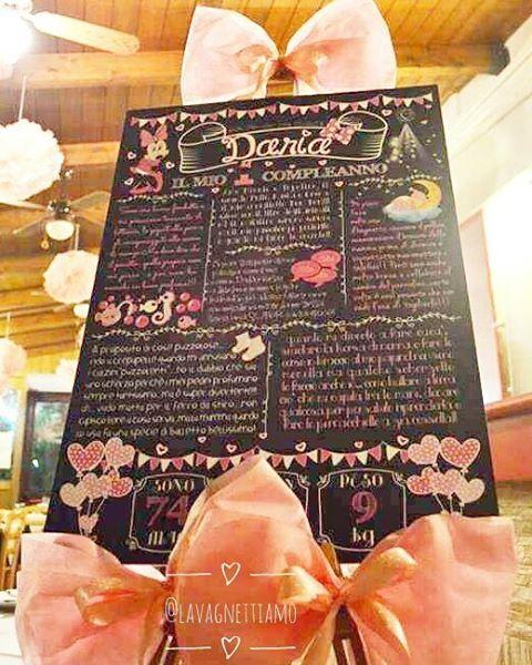 Esposizione doc per la #lavagnetta #primocompleanno della piccola Daria!!!! Vi piace??? #lavagnettiamo #lavagnettiamo@gmail.com #chalkboardart #art #chalkboard #lavagna #lavagnettepersonalizzate #lavagnetta #chalk #chalklettering #handwriting #handlettering #firstbirthday #baby #babies #birthday #bday #compleanno #festa #party #one #thewomoms #mum #mummy #mom #babygirl