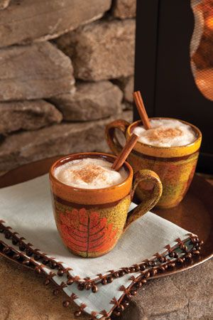 Cinnamon Cafe Latte.  I simply adore these Autumnal mugs.  This link takes you to Southern Lady Magazine page where there are links to so many heavenly recipes . .