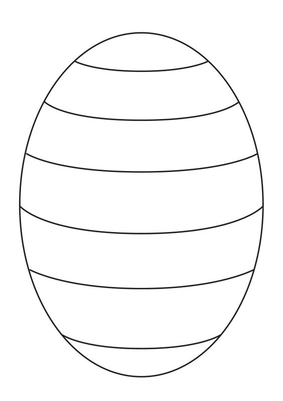 Blank Easter egg template to create