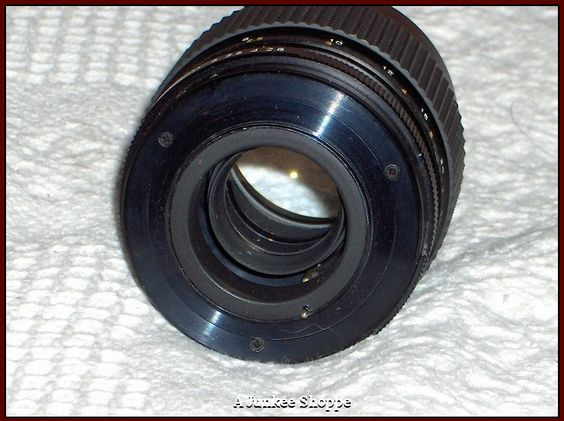 CHINAR F/135mm Camera Lens 1:2.8 Threaded Connection Photography Used  HP 2587  http://ajunkeeshoppe.blogspot.com/