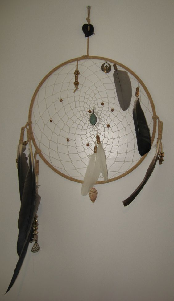 Canada Goose jackets outlet store - Dreamcatcher made using Canada goose feathers, a rare earth stone ...