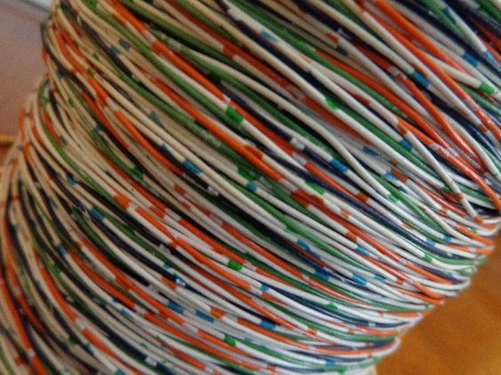 Vintage Pliable Multi-Colored 6 Stranded Wire 1 Yard Great for crafting Make words Bracelets Hangers for Ornaments Convo custom listing