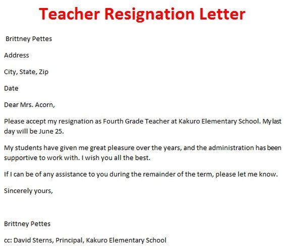 Professional Resignation Letter To Employee  GoogleSuche