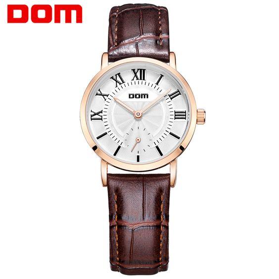 $45.45 (Buy here: https://alitems.com/g/1e8d114494ebda23ff8b16525dc3e8/?i=5&ulp=https%3A%2F%2Fwww.aliexpress.com%2Fitem%2FDOM-2016-Couple-Waterproof-Casual-Watch-Fashion-Brand-Men-Women-Leather-Watch-Fashion-Montre-Femme-De%2F32670504362.html ) DOM 2016 Couple Waterproof Casual Watch Fashion Brand Men Women Leather Watch Fashion Montre Femme De Marque Quartz Watch Luxury for just $45.45