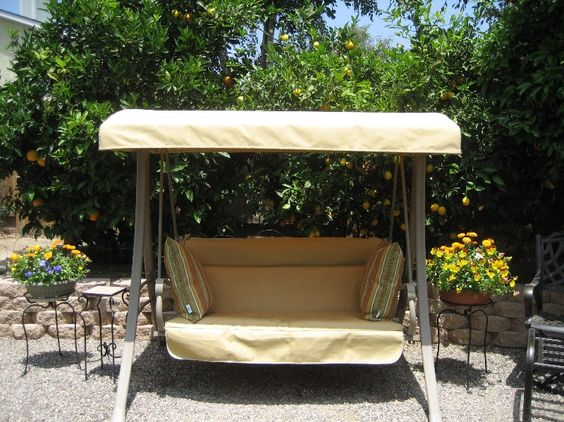 Home Depot Hampton Bay Charm 2 Seat Swing Canopy And Cushion Cover Replacement Outdoor Patio