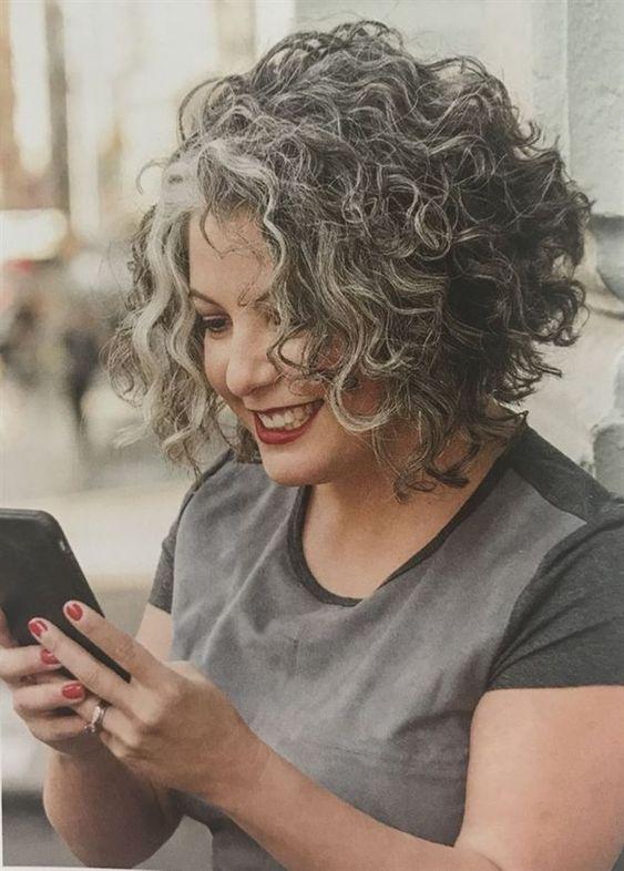 Gray hair don't care. Salt and pepper gray hair. Grey hair. Silver hair. White... ,