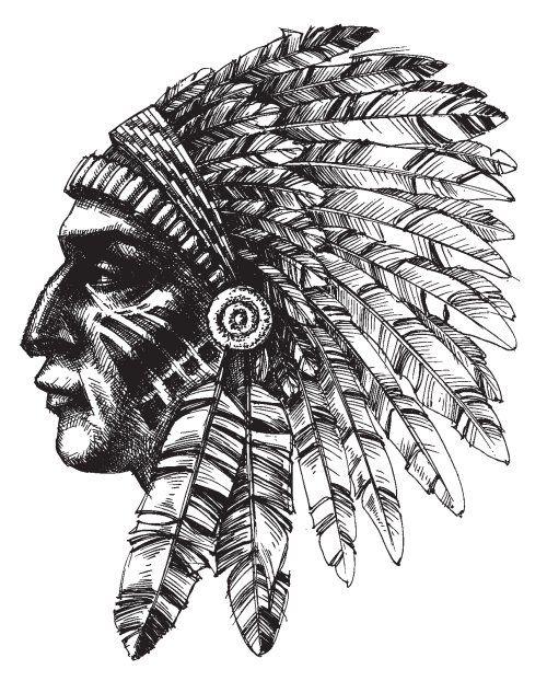 Pin Von Alex Luke Auf Disenos Indianer Tattoo Indischer Kopfschmuck Tattoo Indianer Kopfschmuck