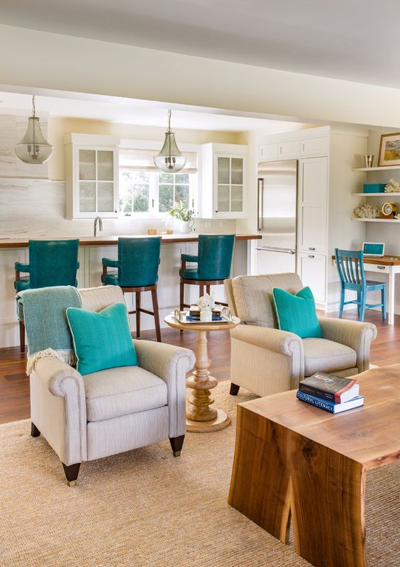 Turquoise Accents Martha 39 S Vineyard Interior Design Love This Look Pinterest Vineyard