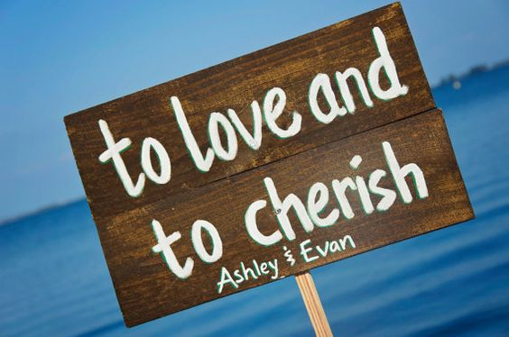 To Love and To Cherish Wedding Decor Sign - Wedding Wood Signs and Decor on Etsy, $21.92 CAD