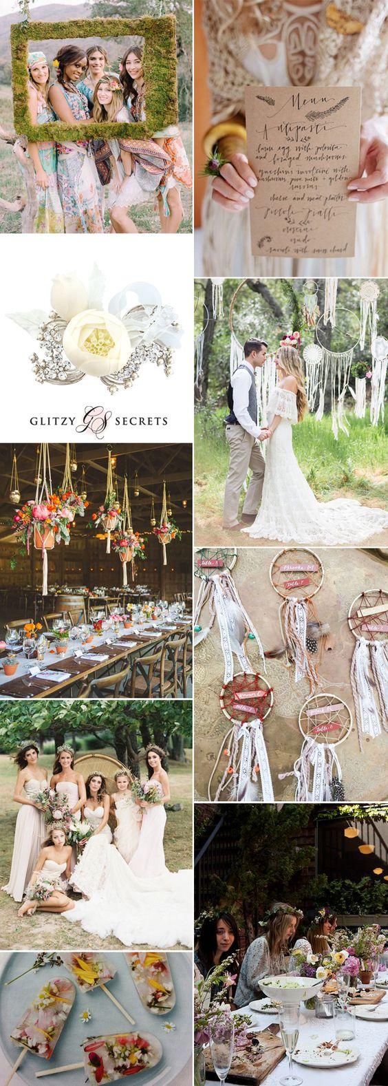 Gorgeous 1970s boho wedding ideas on GS Inspiration - Glitzy Secrets