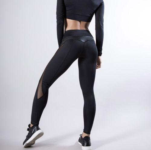 UK Womens Compression Leggings High Waist Gym Sports Leggings Fitness Yoga Pants