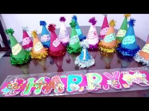 صنع قبعات اعياد الميلاد بكميات وبدون تكاليف Birthday Hat Diy Youtube In 2021 Birthday Candles Birthday Candles
